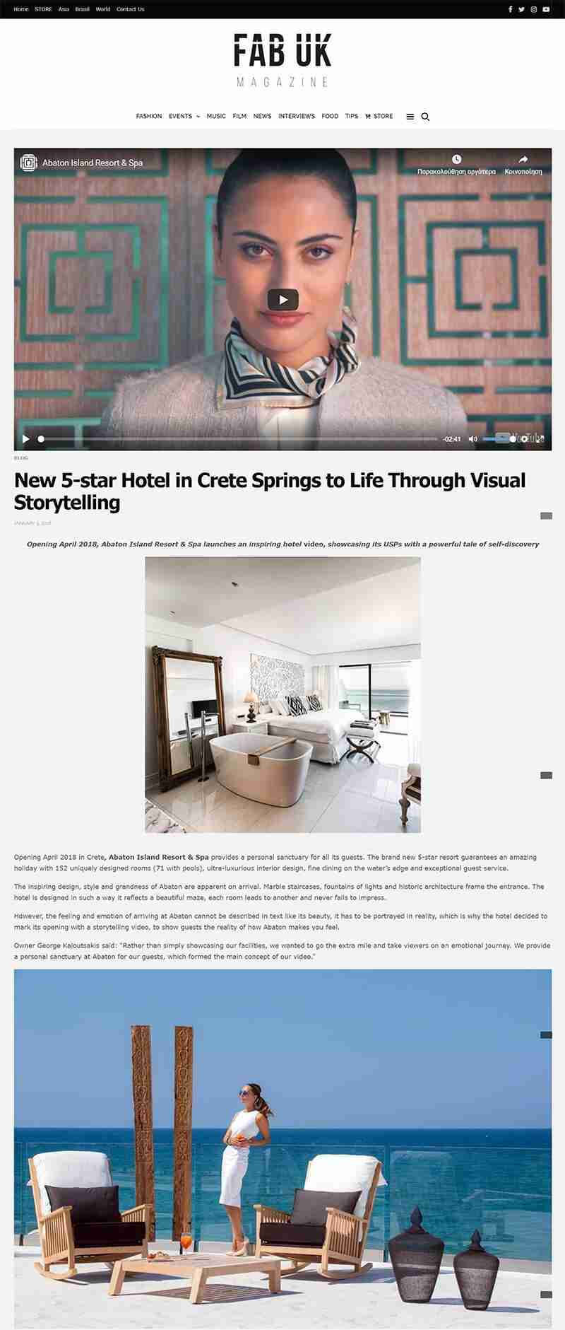 New 5-star Hotel in Crete Springs to Life Through Visual Storytelling