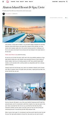 Private pool, five delicious restaurants and a luxury spa