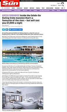 GREEK PARADISE Inside the Crete mansion that's a favourite of the stars