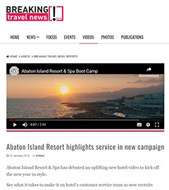 Abaton Island Resort highlights service in new campaign